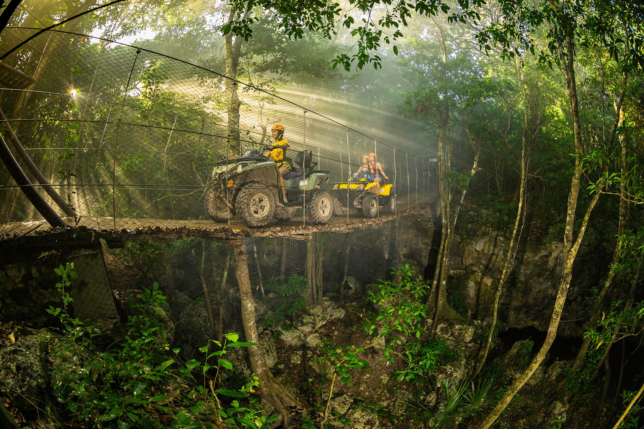 exciting adventure with atv - zip line and cenote (double) 4