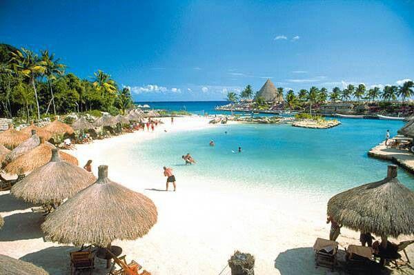 XCARET has a beautiful beach